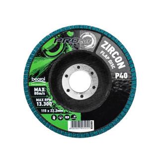 Brusni disk zirkon, ø115mm, granulacija 40