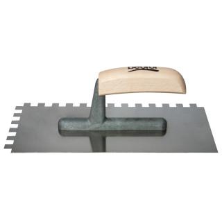Gleterica Inox nazubljena 10x10mm, kratka osnova drvena drška