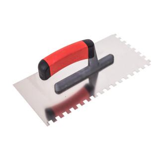 Gleterica rostfraj profesional soft drška nazubljena 8x8mm