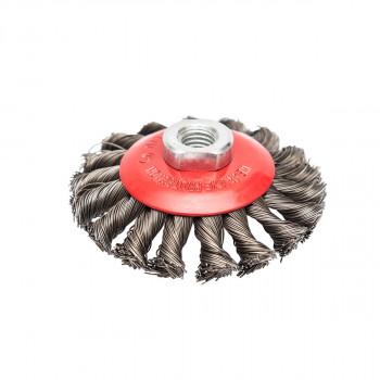 Mašinska čelična četka kružna upletena 100mm za brusilicu