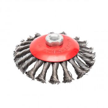 Mašinska čelična četka, kružna upletena ø125mm za brusilicu