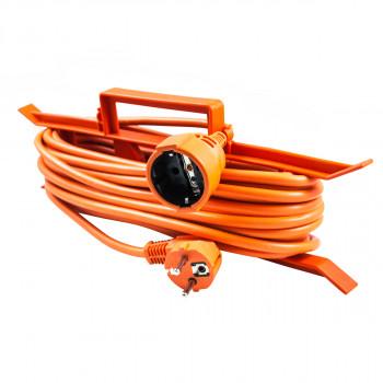 Jednostruka prenosna priključnica 15m oranž