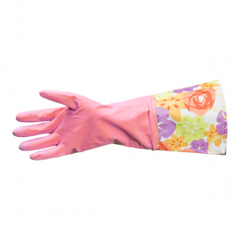 Rukavice za domaćinstvo extra duge roze