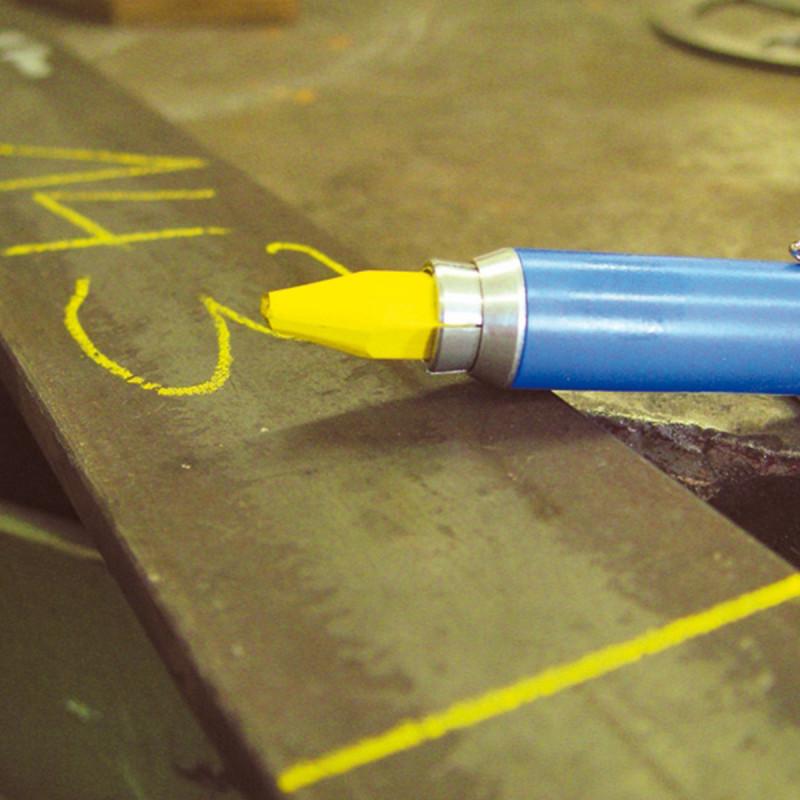 Građevinska kreda voštana 120mm Ø12mm, žuta 12/1