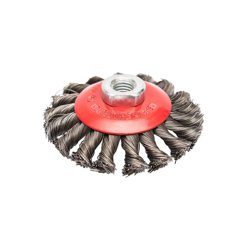 Mašinska čelična četka, kružna upletena ø100mm za brusilicu