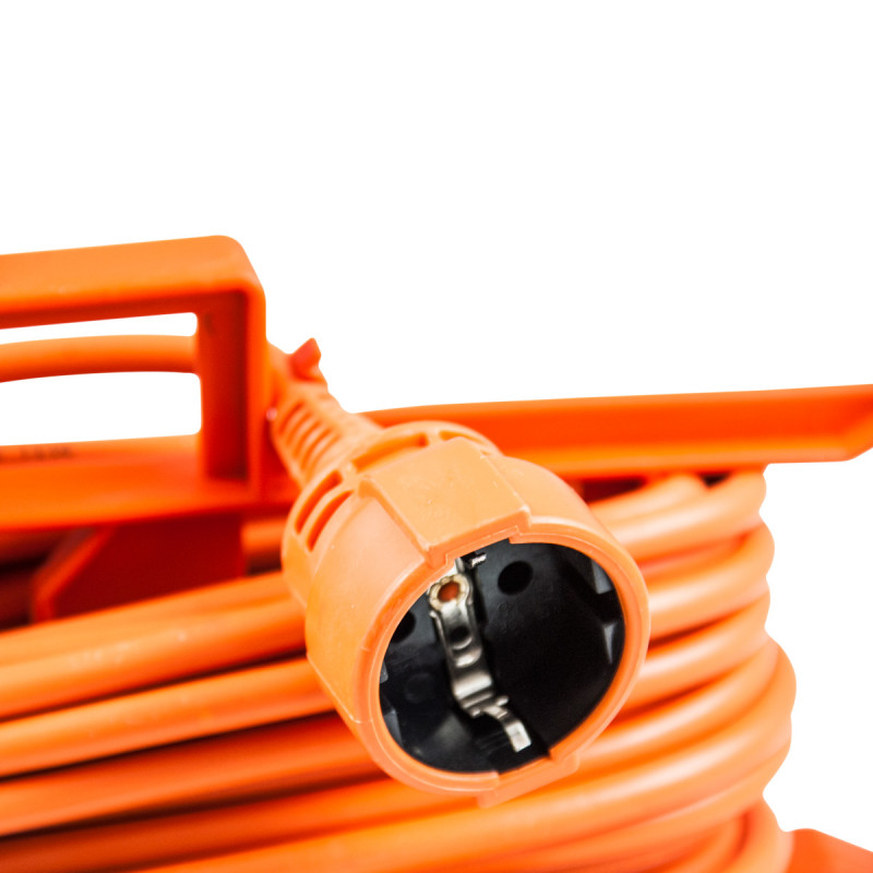 Jednostruka prenosna priključnica 20m oranž