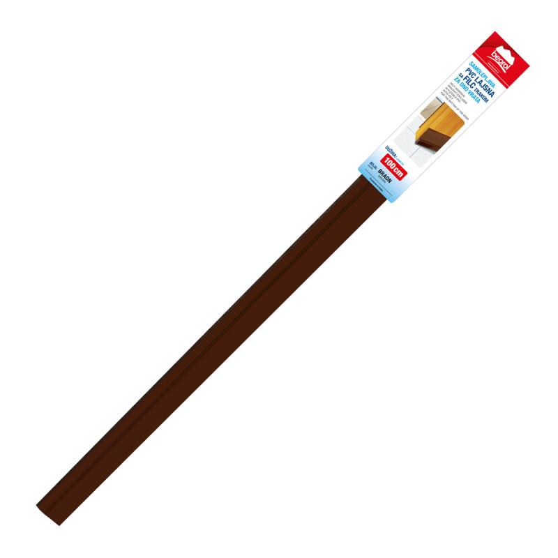 Samolepljiva PVC lajsna sa filc trakom za vrata 1m, braon