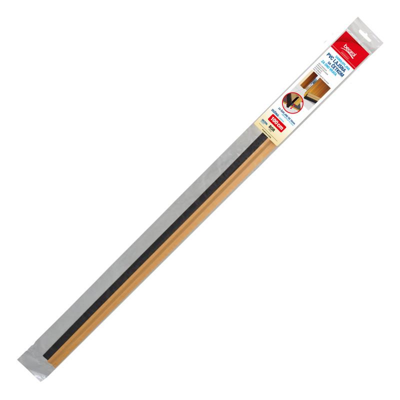 Samolepljiva PVC lajsna sa četkom za vrata 1m, bor