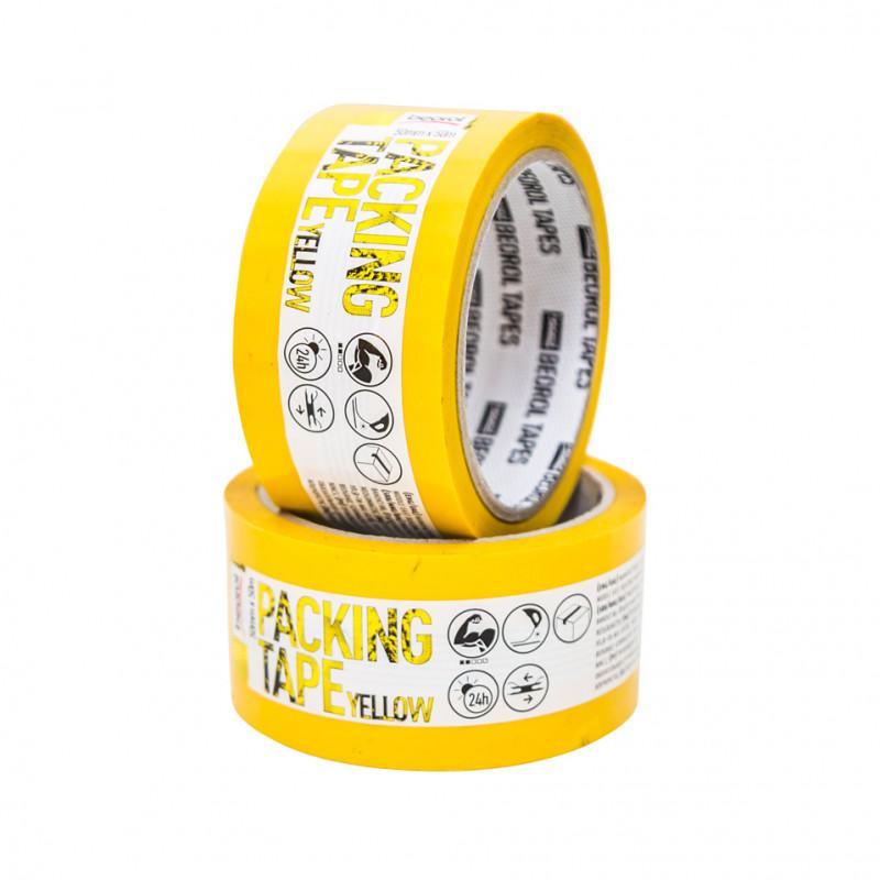 Kolor selotejp - žuti 50mm x 50m