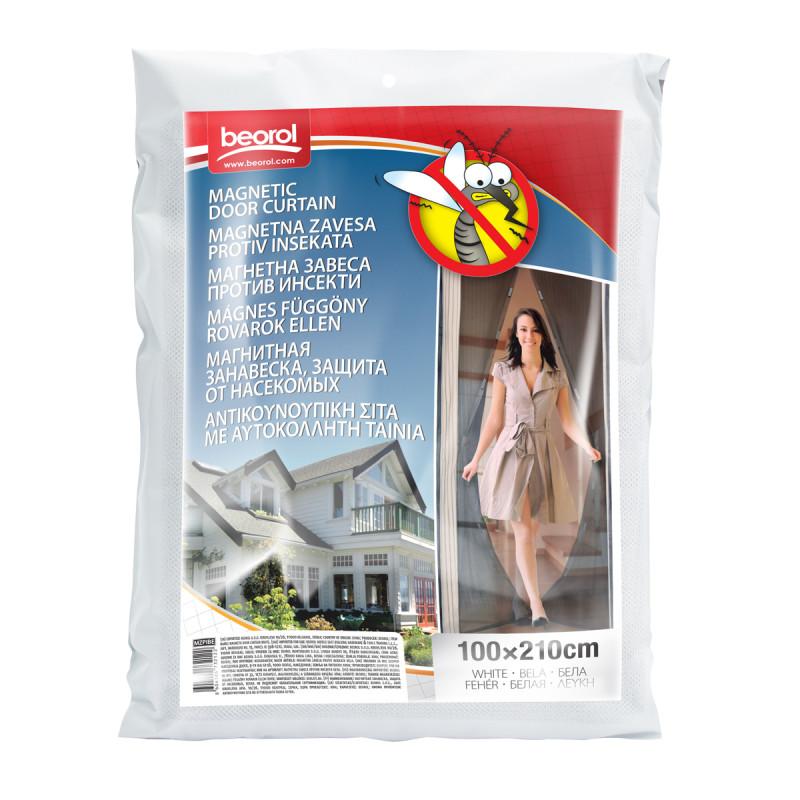 Magnetna zavesa protiv insekata, bela