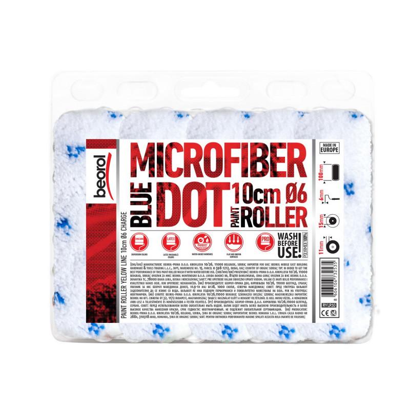 Radijator valjak Mikrofiber Blue Dot 10cm rezerva
