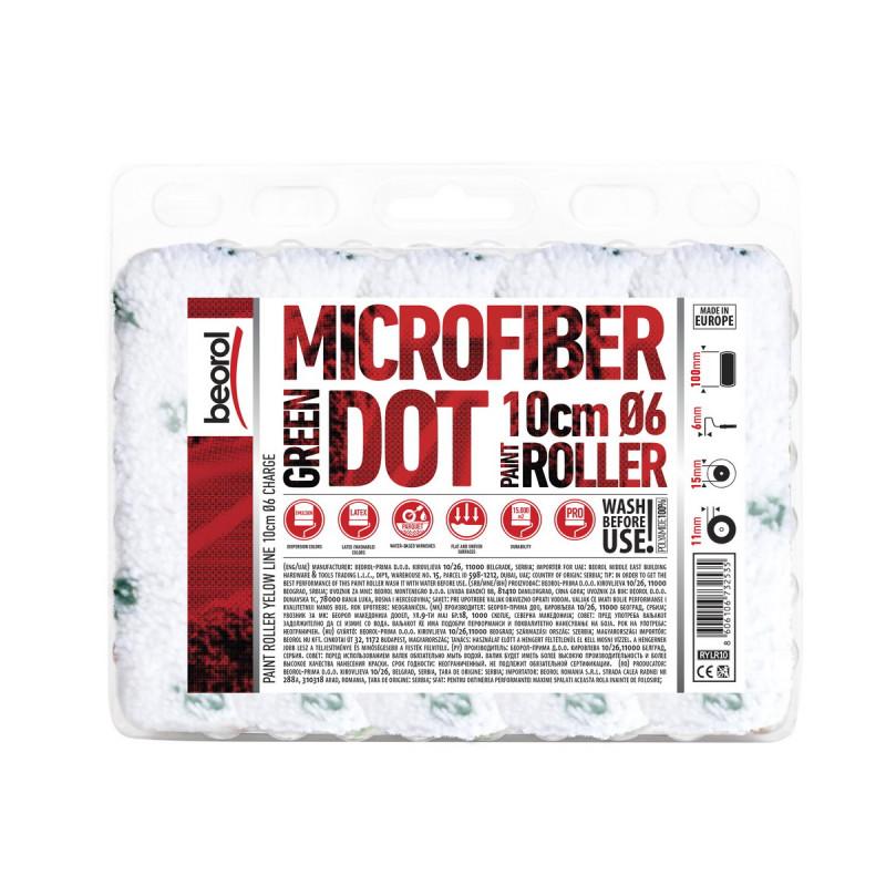 Radijator valjak Mikrofiber Green Dot 10cm rezerva