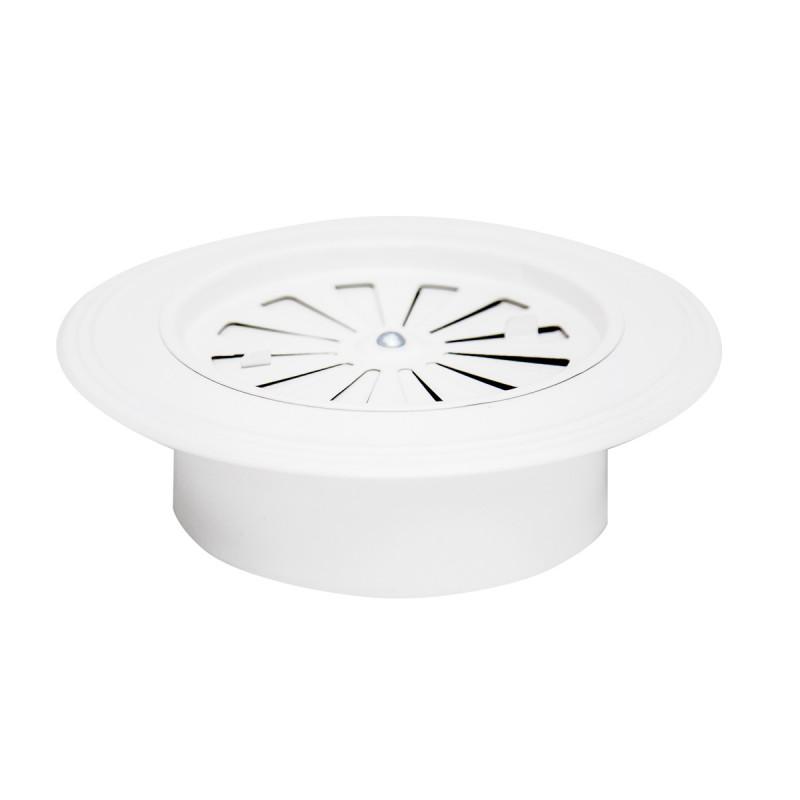 Rozetna ventilaciona bela Ø 119 ravna