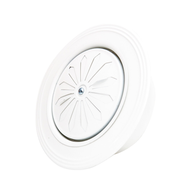 Rozetna ventilaciona bela ø119mm zaobljena