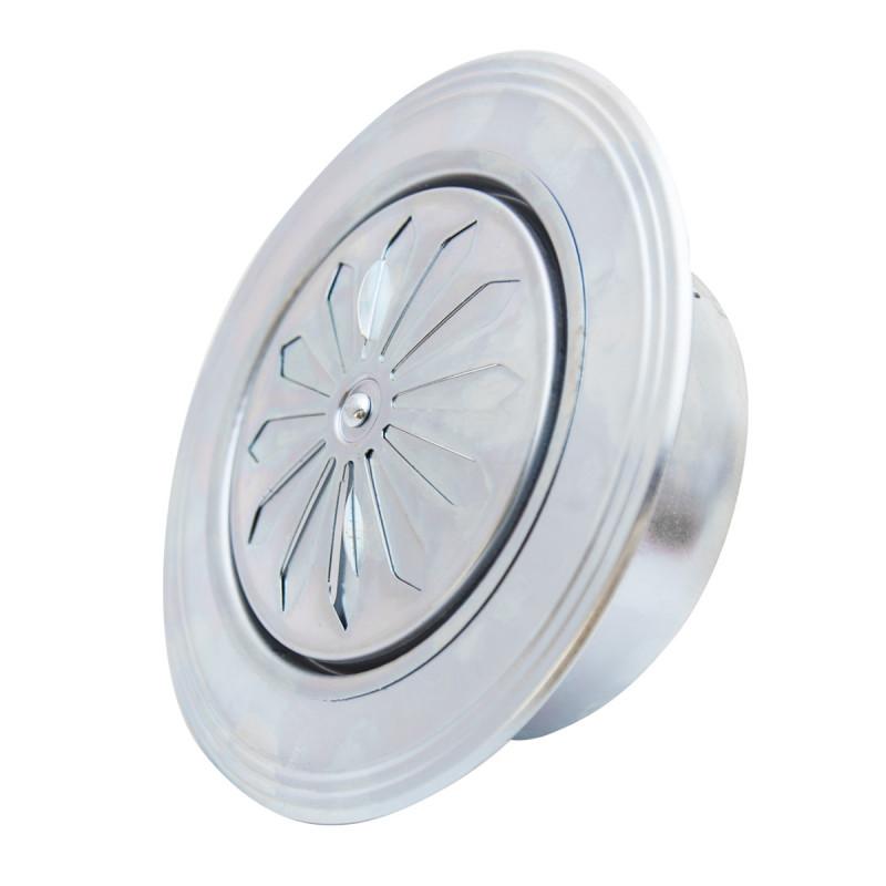 Rozetna ventilaciona pocinkovana Ø 119 zaobljena