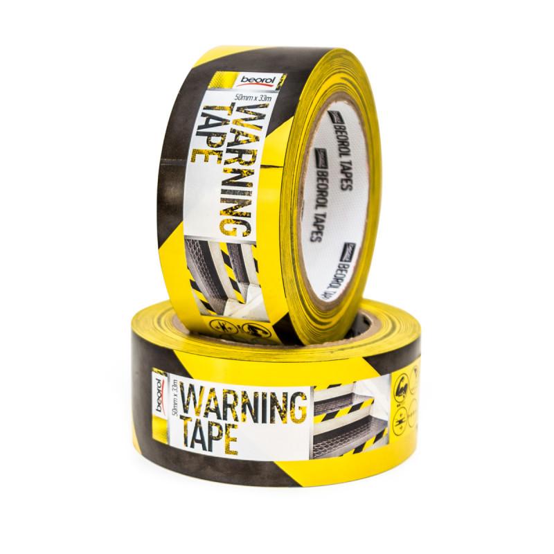 Selotejp za obeležavanje žuto crna 50mm x 33m